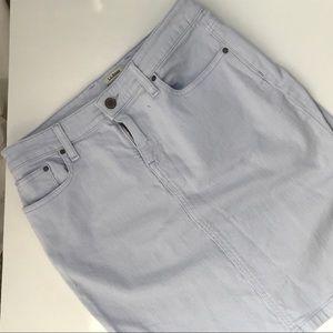 LL Bean Favorite Fit Jean Skirt Size 6 Petitr